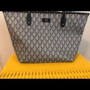 Ralph Lauren Monogram Handbag Purse